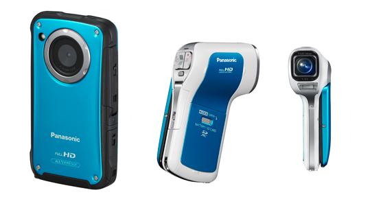 Die HM-TA20 (links) und HX-WA10 setzen in der mobilen Filmaufnahme neue Maßstäbe. (Bild: Panasonic)