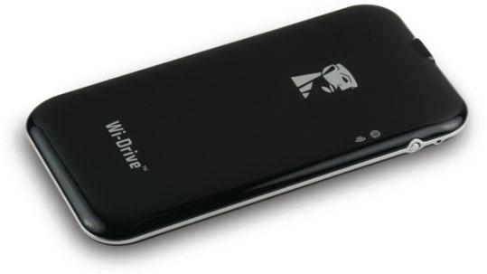 Das Wi-Drive ist ein Flashspeicher von Kingston, der per WLAN mit dem iPhone und iPad kommuniziert. (Bild: Kingston)