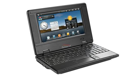Das Netbook Meteorit NB-7 arbeitet mit Android 2.2 und einem schwachen iMAPX210-Prozessor. (Bild: Pearl)
