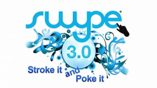 Swype: Text-Wischer-App fürs Tablet bald auch im Android-Market? (Bild: Swype)