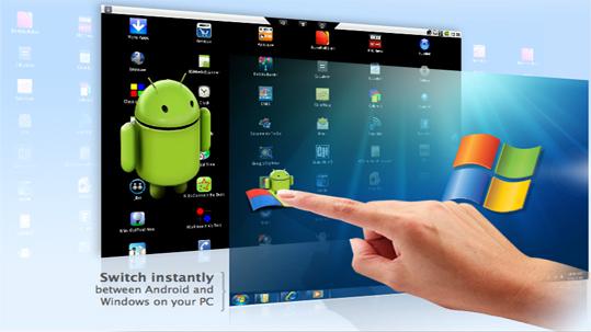 Das Virtualisierungsprojekt von Bluestacks vereint Android und Windows zu einem Rechner. (Bild: Bluestacks)
