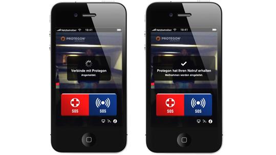 Die App Protegon SOS läuft auf dem iPhone, iPad, iPod touch und allen Android-Systemen. (Bild: Protegon SOS)